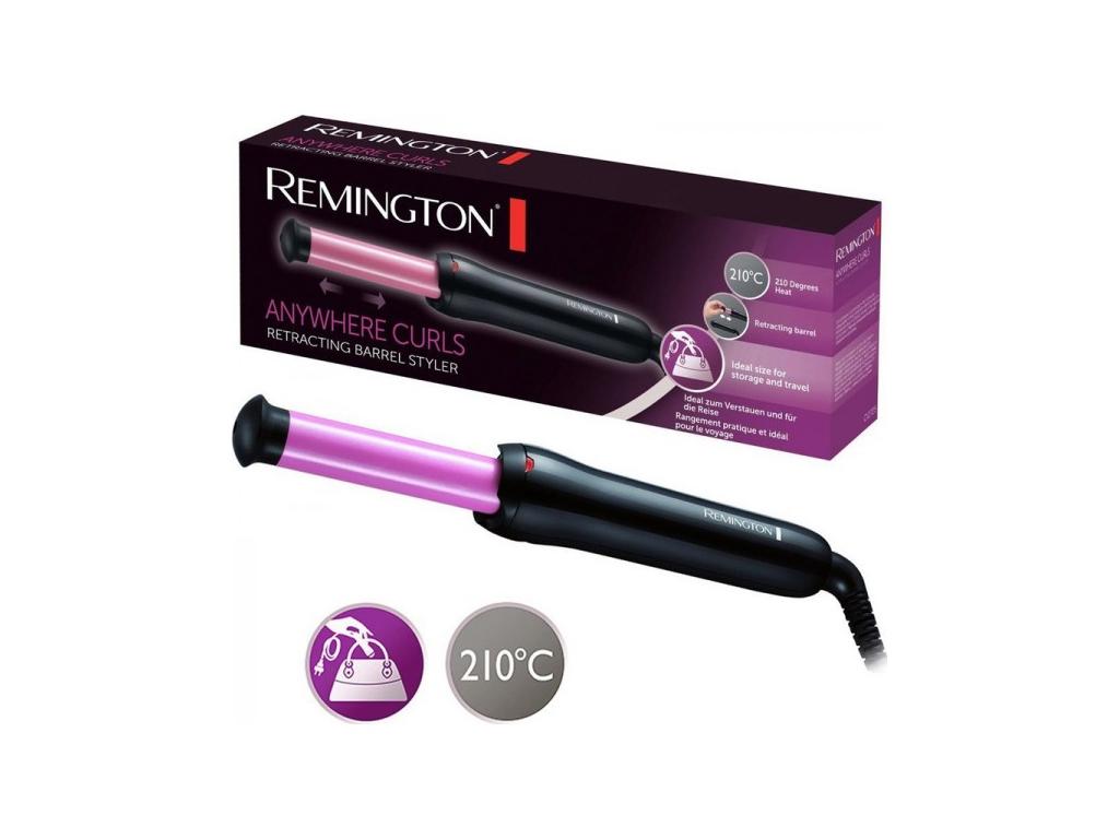 Σίδερα μαλλιών για Μπούκλες- Remington Ψαλίδι Μαλλιών για Μπούκλες Keratin  Therapy με Ράβδο που Κλίνει και Κεραμική Επίστρωση Κερατίνης 90108366d70